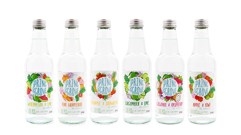 Naturally Flavoured Carbonated Spring Water