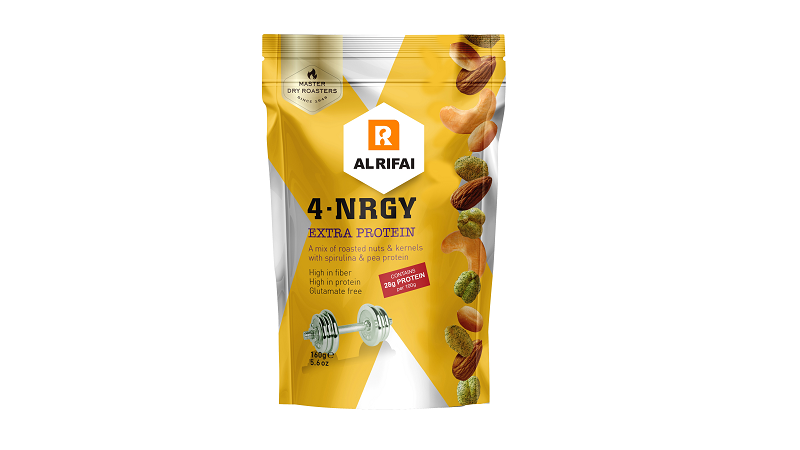 4-NRGY mix of nuts & kernels coated with vegan potein