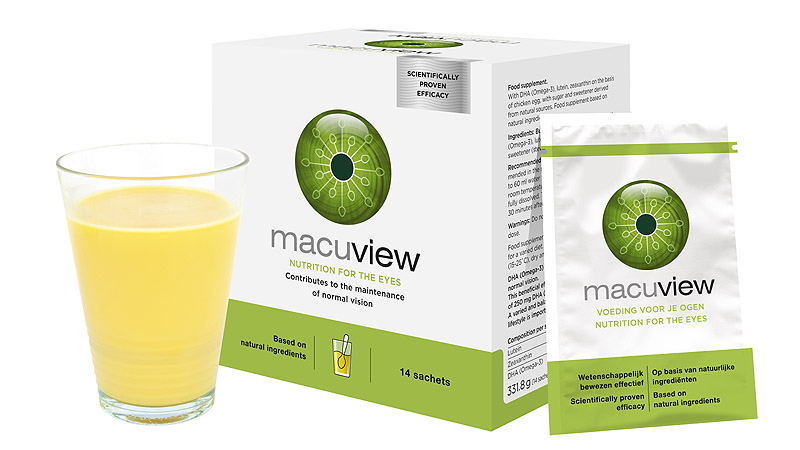 MacuView: powder drink for maintenance of normal vision