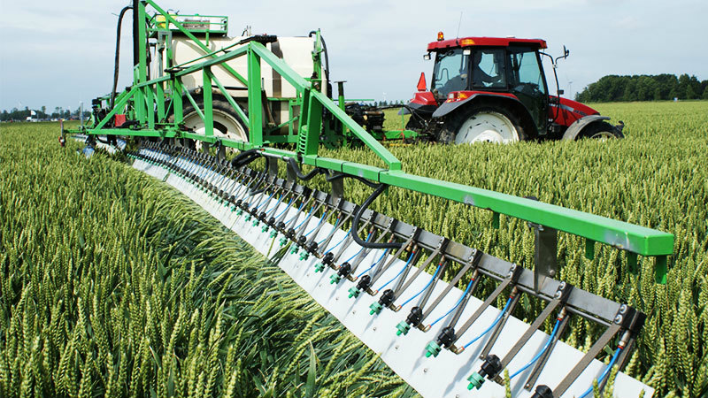 Eco-friendly, cost reducing crop spraying system
