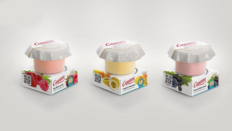 Carezzo protein-enriched fruit dairy and fruit ice