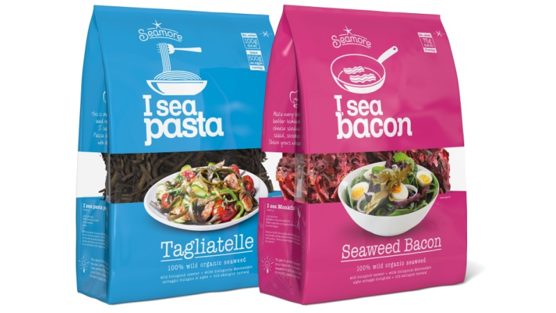 Seaweed disguised as pasta and bacon